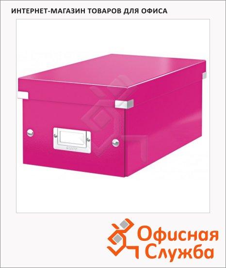 Короб для CD/DVD Leitz Click & Store розовый, на 20/40 дисков, 60420023