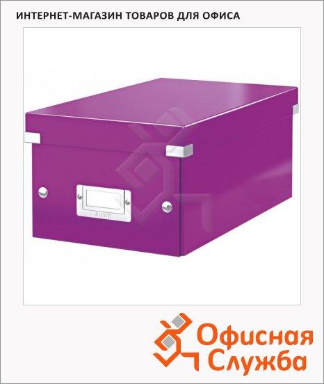 Короб для CD/DVD Leitz Click & Store фиолетовый, на 20/40 дисков, 60420062