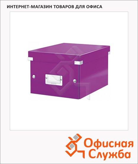 Архивный короб Leitz Click & Store-Wow фиолетовый, A5, 220x160x282 мм, 60430062