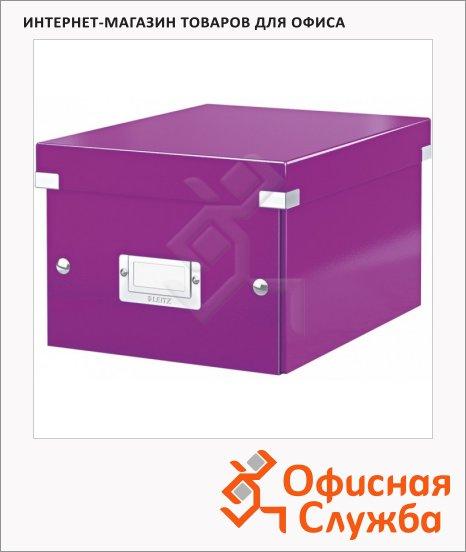 Архивный короб Leitz Click & Store-Wow фиолетовый, A4, 281x200x370 мм, 60440062