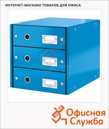 фото: Бокс для бумаг Click & Store 286x282x358мм 3 ящика, синий, 60480036