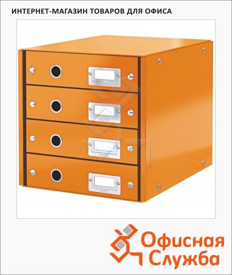 Бокс для бумаг Leitz Click & Store 286x282x358мм, оранжевый, 60490044