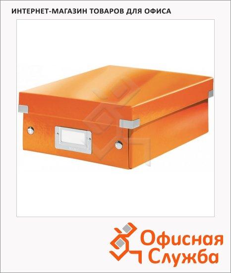 Архивный короб Leitz Click & Store-Wow оранжевый, A4, 280x100x370 мм, 60580044