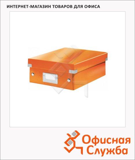 Архивный короб Leitz Click & Store-Wow оранжевый, A5, 220x100x285 мм, 60570044