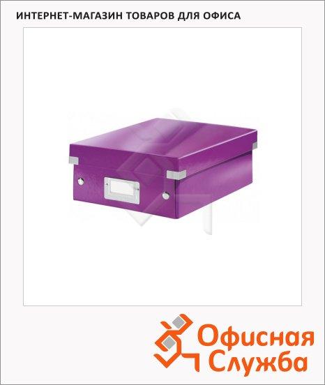 Архивный короб Leitz Click & Store-Wow фиолетовый, A5, 220x100x285 мм, 60570062