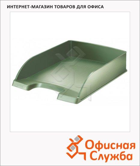 фото: Лоток горизонтальный для бумаг Leitz Style А4 малахит, 52540053