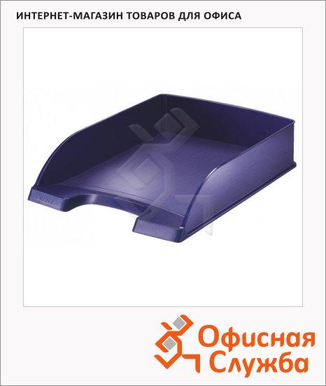 фото: Лоток горизонтальный для бумаг Leitz Style А4 синий титан, 52540069