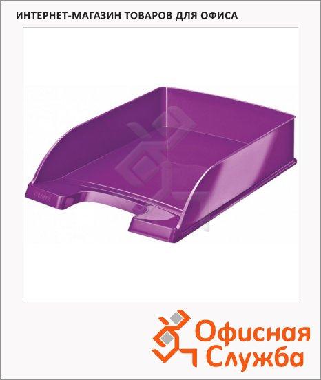 Лоток горизонтальный для бумаг Leitz Wow А4, фиолетовый, 52263062