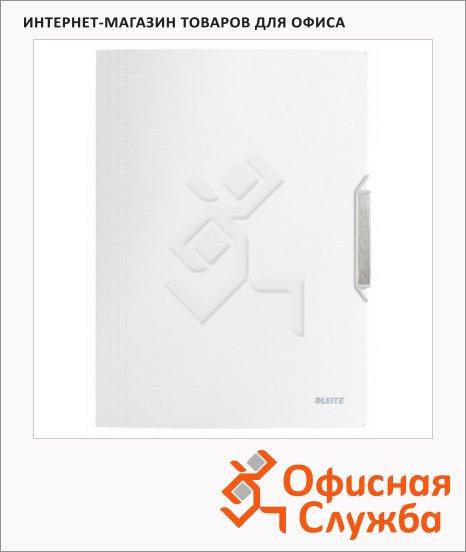 фото: Пластиковая папка на резинке Leitz белая сталь A4, до 150 листов, 39770004