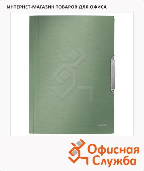 Пластиковая папка на резинке Leitz малахит, A4, до 150 листов, 39770053
