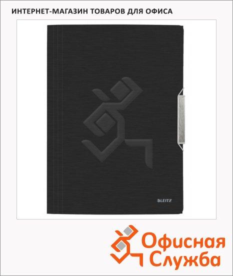 фото: Пластиковая папка на резинке Leitz черная A4, до 150 листов, 39770094