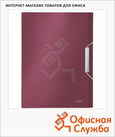 Пластиковая папка на резинке Leitz красный гранат, A4, до 250 листов, 39560028