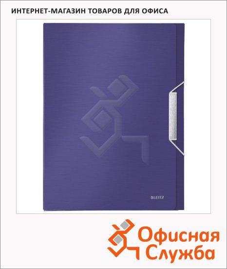 фото: Пластиковая папка на резинке Leitz синий титан A4, до 250 листов, 39560069