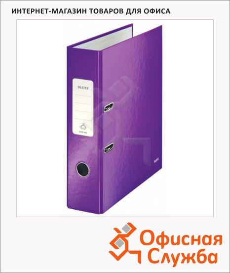 Папка-регистратор А4 Leitz 180° Wow фиолетовая, 80 мм, 10050062