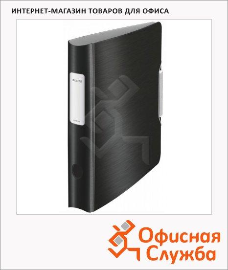 фото: Папка-регистратор А4 Leitz 180° Active Style черная сталь 65 мм, 11090094