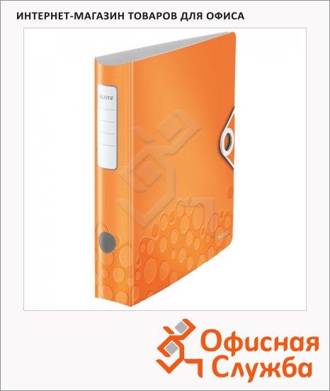 Папка-регистратор А4 Leitz 180° Active Wow оранжевая, 60 мм, 11070044