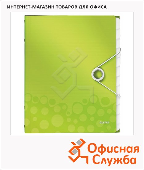 фото: Папка-органайзер Wow зеленая А4, 12 разделов, 46340064