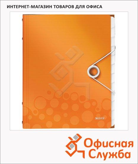 Папка-органайзер Leitz Wow оранжевая, А4, 12 разделов, 46340044