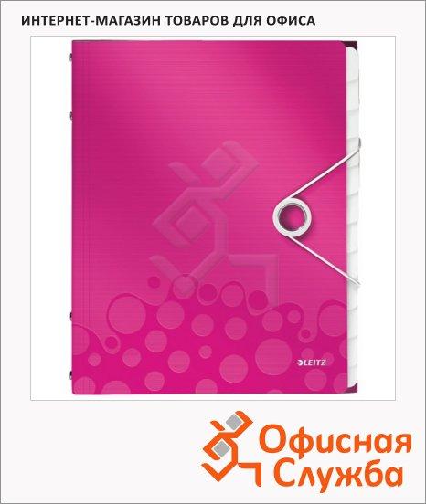 Папка-органайзер Leitz Wow розовая, А4, 12 разделов, 46340023