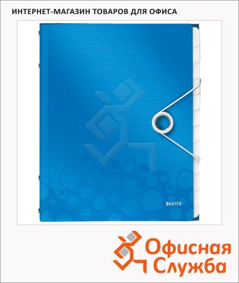 Папка-органайзер Leitz Wow синяя, А4, 12 разделов, 46340036