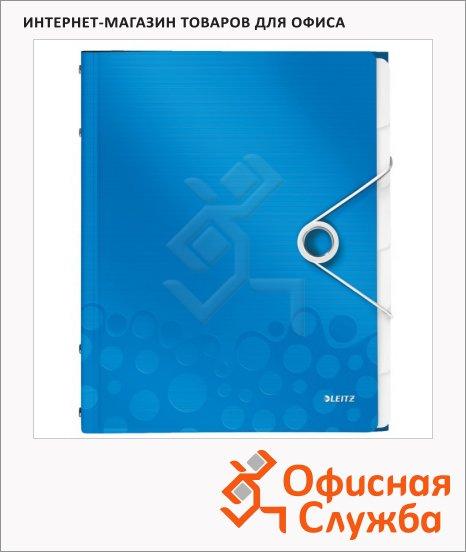 Папка-органайзер Leitz Wow синяя, А4, 6 разделов, 46330036