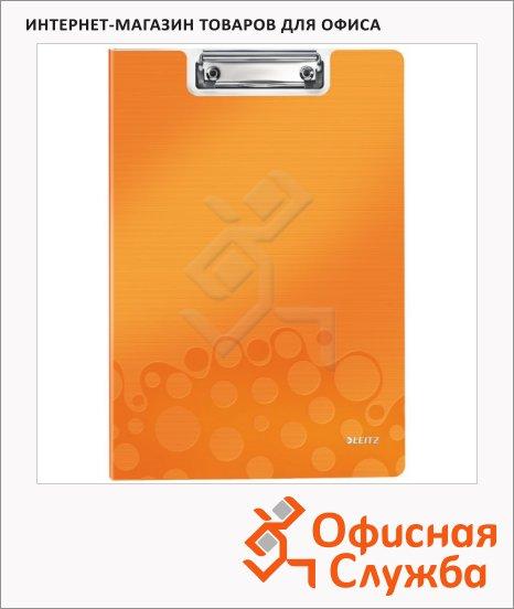Клипборд с крышкой Leitz Wow оранжевая, А4, 41990044
