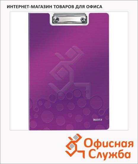 Клипборды с крышкой Leitz Wow фиолетовая, А4, 41990062