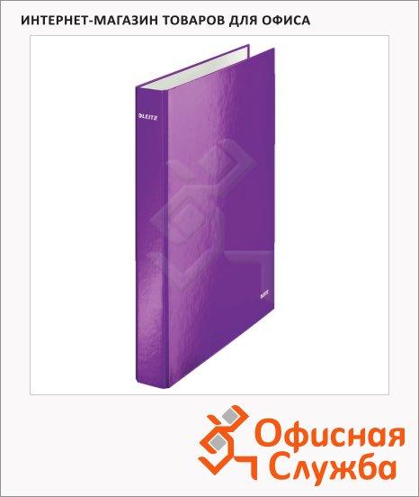 Папка-панорама на 4-х кольцах A4 Maxi Leitz Active Wow фиолетовая, 40 мм, 42420062