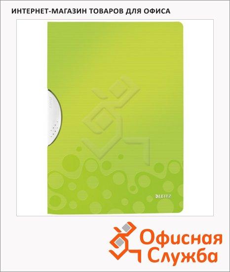 фото: Пластиковая папка с клипом Wow зеленая А4, до 30 листов, 41850064