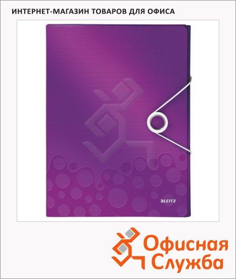 фото: Пластиковая папка на резинке Leitz Wow фиолетовая A4, до 250 листов, 46290062