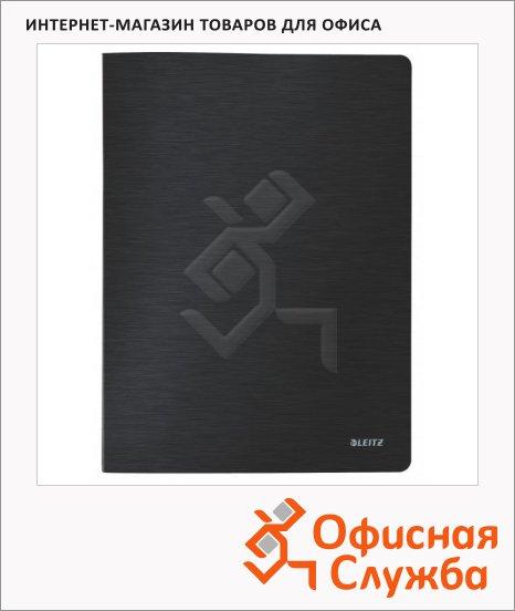 Папка файловая Leitz Style черная сталь, А4, на 20 файлов, 39580094