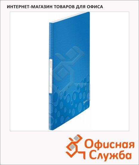 Папка файловая Leitz Wow синяя, А4, на 20 файлов, 46310036