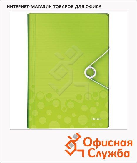Папка-органайзер Leitz Wow зеленая, А4, 6 разделов, 45890064