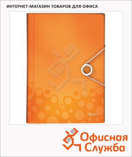 фото: Папка-органайзер Leitz Wow оранжевая А4, 6 разделов, 45890044