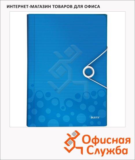Папка-органайзер Leitz Wow синяя, А4, 6 разделов, 45890036