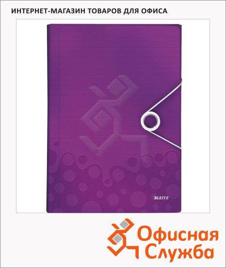 фото: Папка-органайзер Leitz Wow фиолетовая А4, 6 разделов, 45890062
