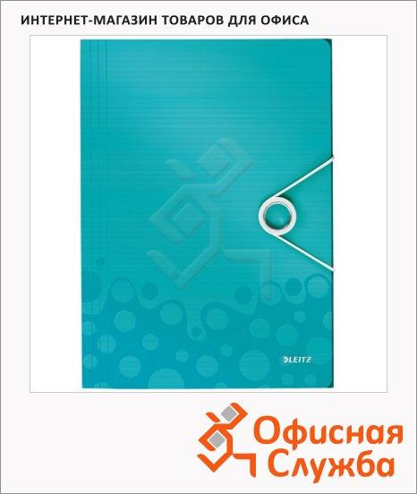 фото: Пластиковая папка на резинке Leitz Wow бирюзовый A4, до 150 листов, 45990051