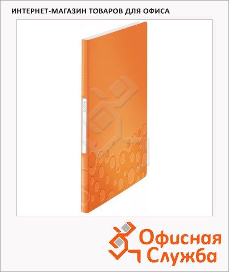 Папка файловая Leitz Wow оранжевая, А4, на 40 файлов, 46320044