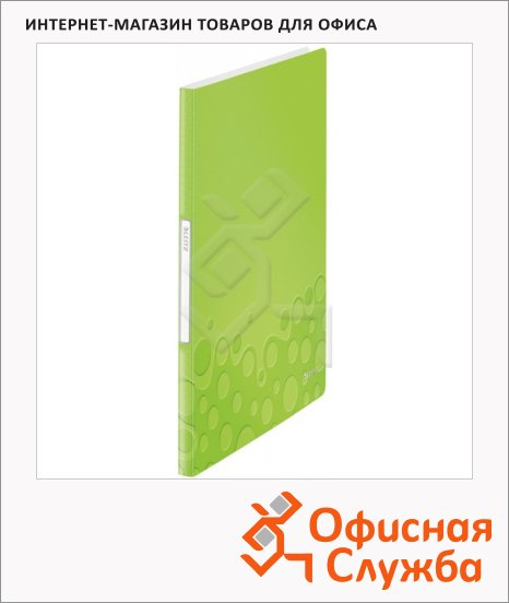 фото: Папка файловая Leitz Wow зеленая А4, на 40 файлов, 46320064