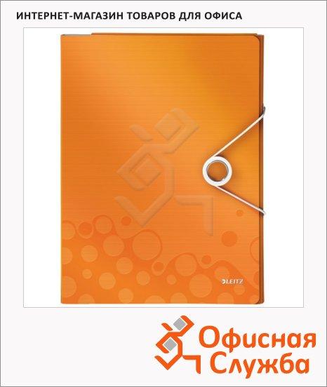 фото: Папка-органайзер Leitz Wow оранжевая А4, 4 раздела, 46360044
