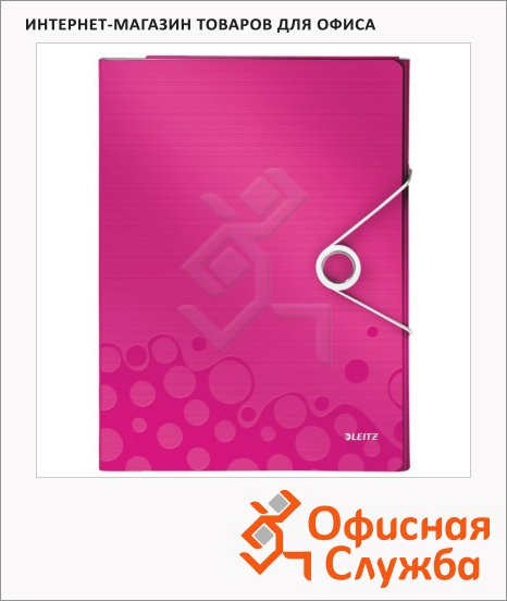 фото: Папка-органайзер Leitz Wow розовая А4, 4 раздела, 46360023