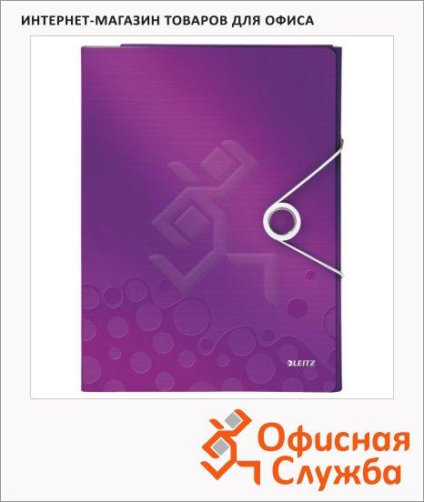 Папка-органайзер Leitz Wow фиолетовая, А4, 4 раздела, 46360062