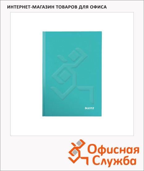 Тетрадь общая Leitz Wow бирюзовый, А5, 80 листов, в клетку, на сшивке, ламинированный картон, 46281051