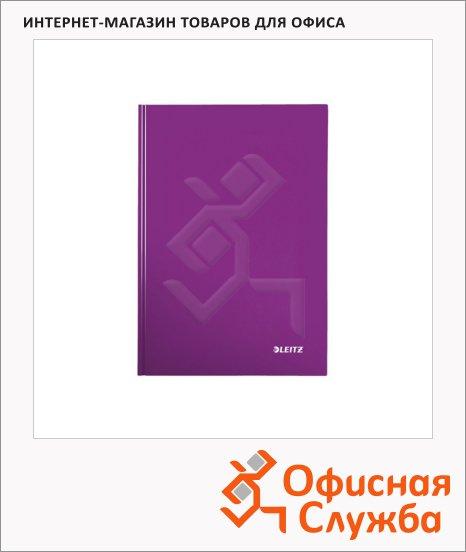 фото: Тетрадь общая Leitz Wow фиолетовый А5, 80 листов, в клетку, на сшивке, ламинированный картон, 46281062