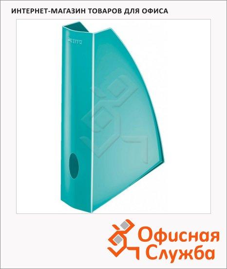 фото: Накопитель вертикальный для бумаг Leitz Wow А4 75мм, бирюзовый, 52771051