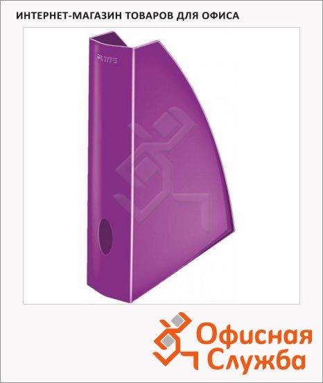 фото: Накопитель вертикальный для бумаг Leitz Wow А4 75мм, фиолетовый, 52771062