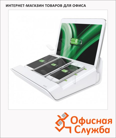 фото: Зарядное устройство Leitz Complete 4 USB-порта белое, 62890001