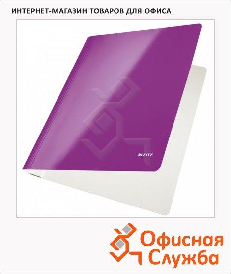 фото: Скоросшиватель картонный Leitz WOW фиолетовый А4, 30010062