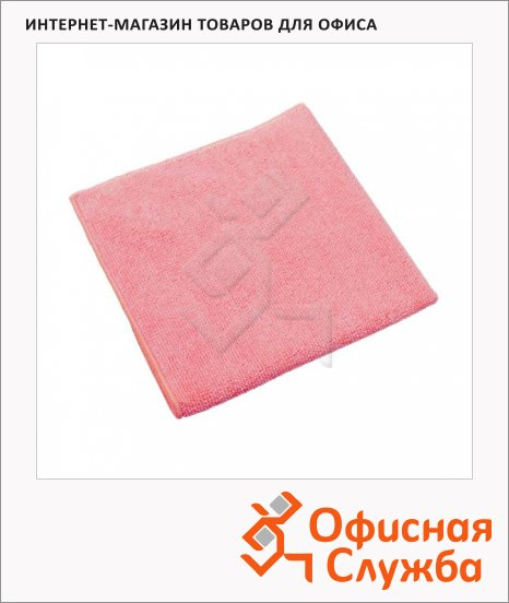 Салфетка хозяйственная Vileda Pro МикроТафф Плюс 38х38см, красная, 111959