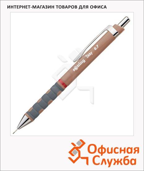 Карандаш механический Rotring Tikky New 0.7мм, коричневый корпус, 0969130